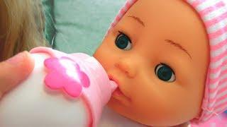 Говорящая кукла BAMBOLINA Настя Хочет Кушать Арина КАК Мама Видео для девочек / Magic Twins