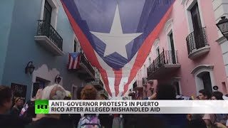 Anger amid new protests in Puerto Rico