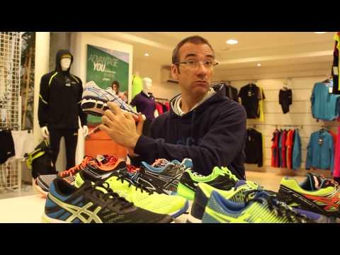 David Pochot, Asics, présente la gamme de chaussures running
