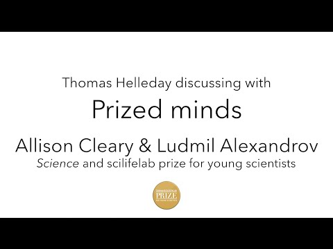 Prized minds - Allison Cleary & Ludmil Alexandrov, Prize for Young Scientists 2015