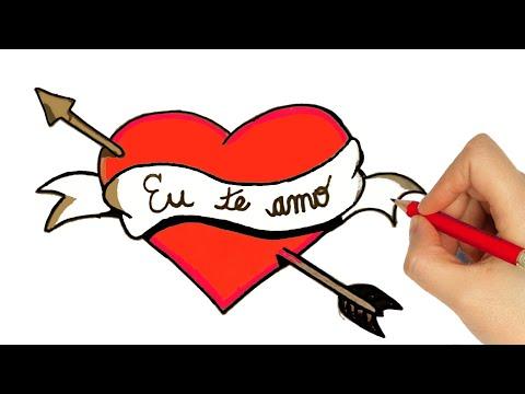 Como Desenhar Um Coracao How To Draw A Heart Como Dibujar Un