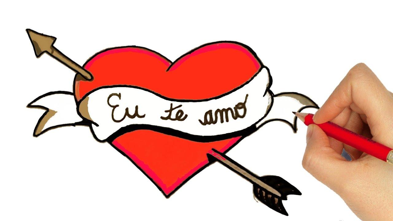 Desenhos De Amor Para Namorado: COMO DESENHAR UM CORAÇÃO