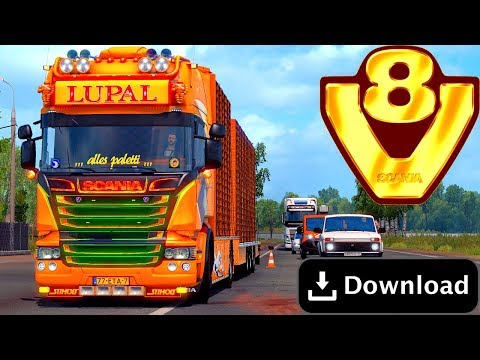 🔛MOD SCANIA LUPAL V8 ETS2 1.34 Download 🔛 thumbnail