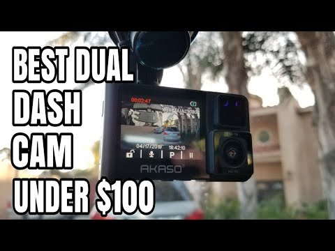 Best Dual Dash Camera For Uber And Lift By AKASO