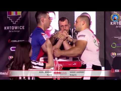 ARM WRESTLING Senior Men -90 kg RIGHT (European Armwrestling Championship 2017)