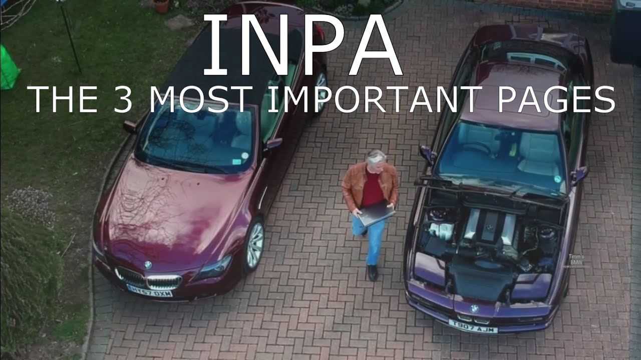 Timms BMW Engine Adaptations and using INPA to solve engine problems
