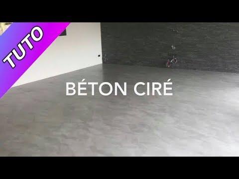 Application Béton ciré sol  C&M Paris seigneurie peinture vernis Marius Aurenti