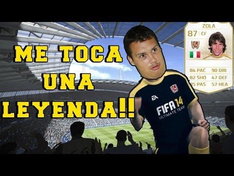 FIFA 14 | Reacción épica al tocarme una LEYENDA