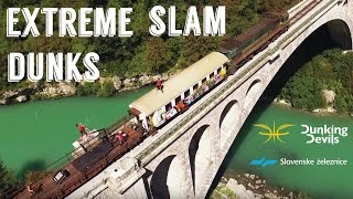 Extreme Slam Dunk Show on Speeding Train | Dunking Devils