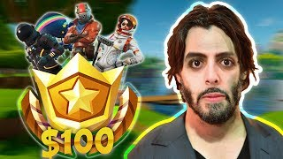 BUYING ALL 100 SEASON 3 BATTLE PASS TIERS - FORTNITE BATTLE ROYALE