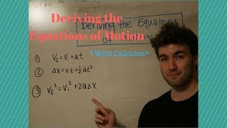 How to Derive the Equations of Motion *with Calculus*