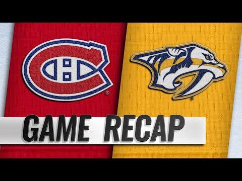 Boyle, Rinne propel Predators past Canadiens, 3-1