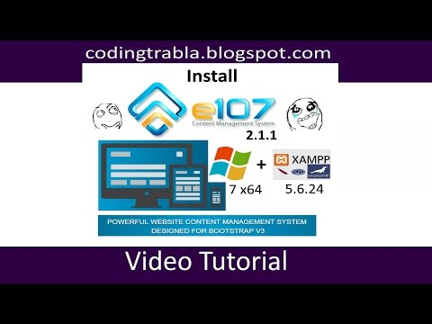 Install e107 Bootstrap CMS 2.1.1 on windows 7 localhost - opensource PHP CMS