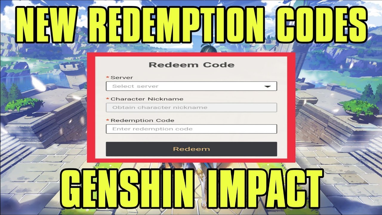 New & Fresh Redemption Codes | Genshin Impact | How to ...