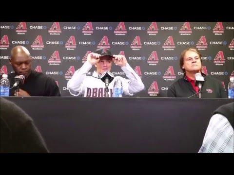 The Arizona Diamondbacks introduce Zack Greinke