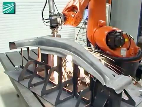 3D fiber laser cutting with industrial robot