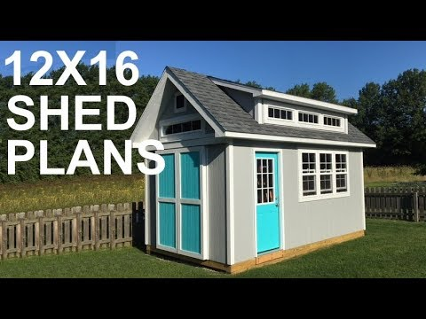 12x16 Shed Plans Video