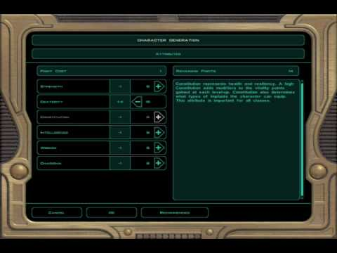 Star Wars KOTOR 2 PC Jedi Sentinel Creation Walkthrough