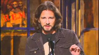Eddie Vedder inducts REM Rock and Roll Hall of Fame Inductions 2007