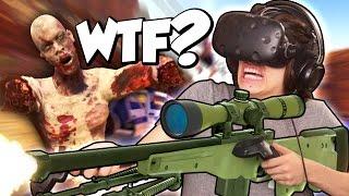 SNIPING ZOMBIES IN VIRTUAL REALITY! | Arizona Sunshine VR (HTC Vive Gameplay)