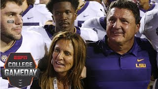 LSU coach Ed Orgeron drawing inspiration from wife after her medical emergency | College GameDay