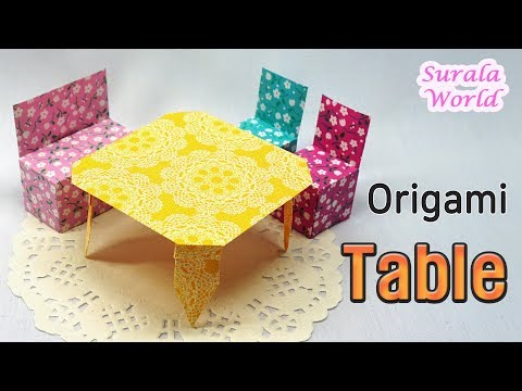 Origami - Table, How to make a paper Table (DIY, Tutorial)