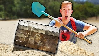 FOUND ABANDONED TREASURE CHEST HIDDEN UNDERGROUND w/ SECRET MAP (Treasure Hunt Adventure Challenge) thumbnail