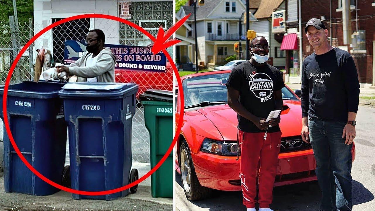 قام هذا الرجل بتنظيف الشارع طوال الليل ، وفي الصباح كان تنتظره مفاجأه لاتنسئ