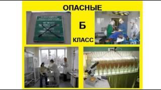 Медицинские отходы, классы А, Б, В, Г, Д