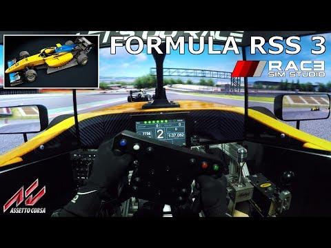 [NEW FREE] Race Sim Studio - Formula RSS 3 [Assetto Corsa] @ Barcelona [Triple Screen Onboard]