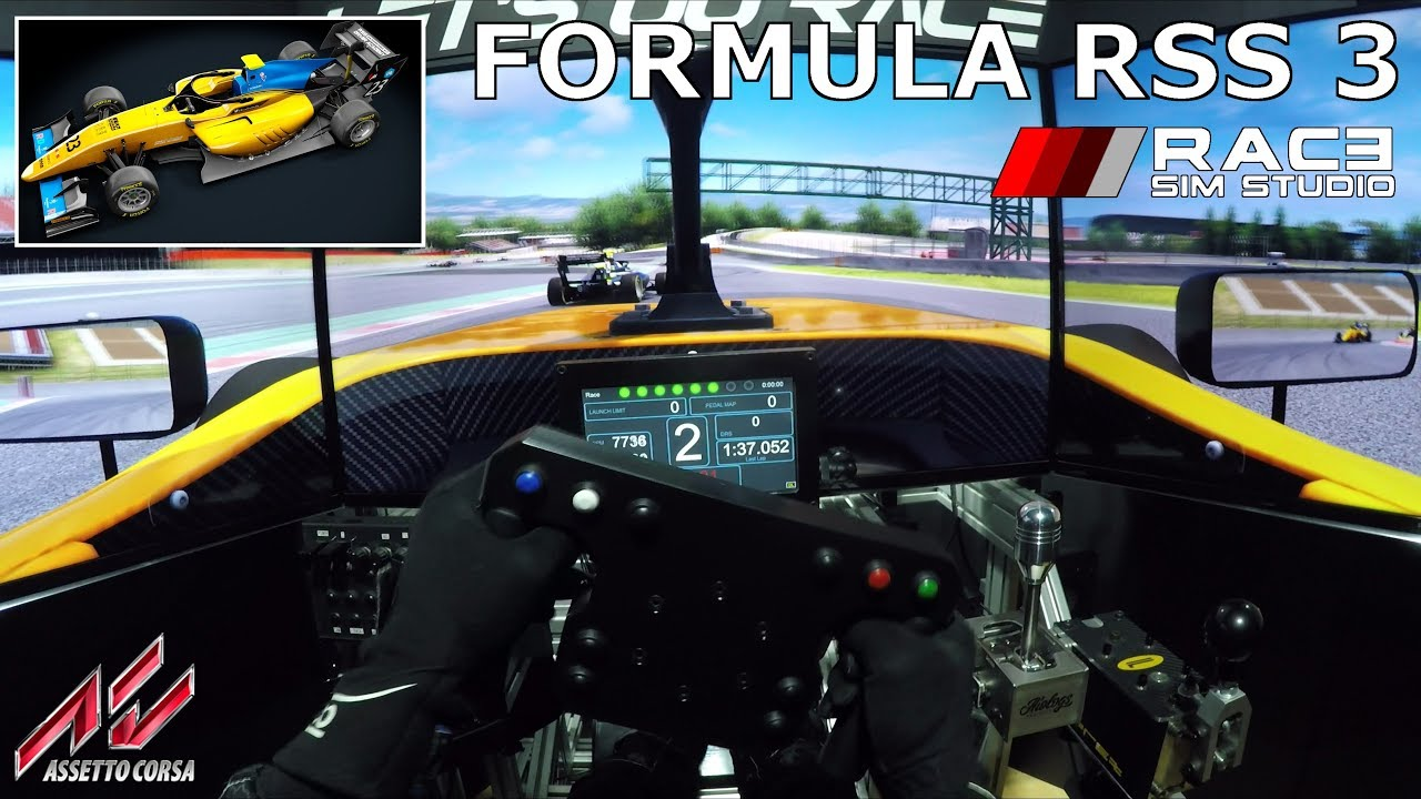[NEW FREE] Race Sim Studio - Formula RSS 3 [Assetto Corsa] @ Barcelona  [Triple Screen Onboard]