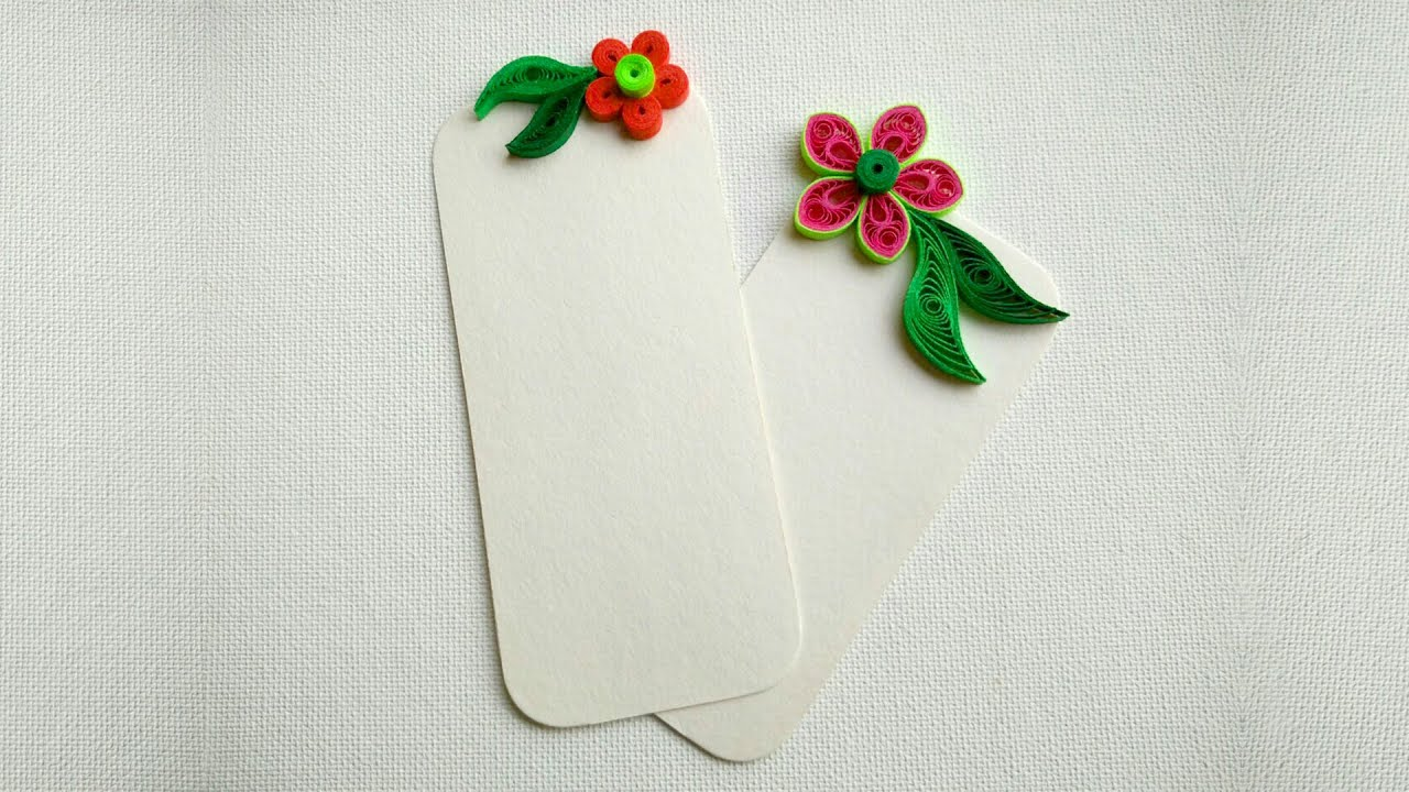 How To Make Bookmarks Using Paper Art Quilling - YouTube