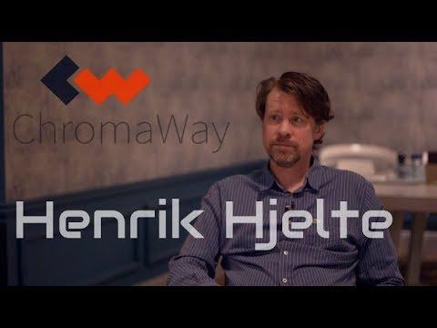 Henrik Hjelte, CEO of ChromaWay. Interview 2018.