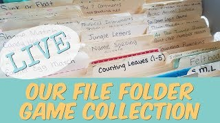 *LIVE* Our File Folder Game Collection