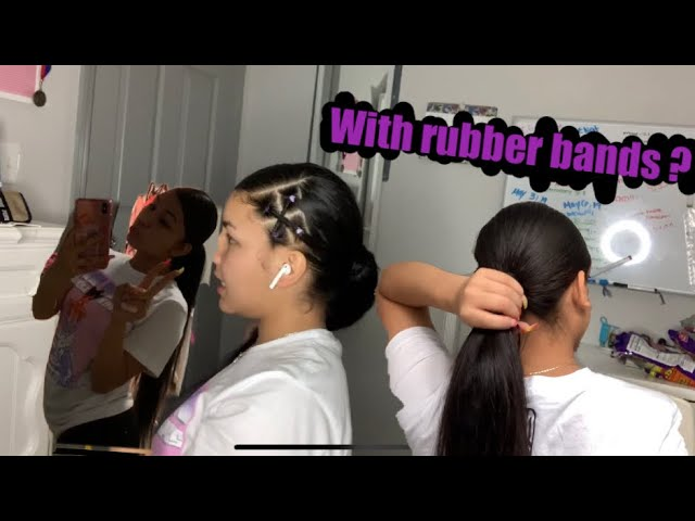 Side Part W Rubber Bands Hairstyle Tutorial Ft Eullair Beauty Browsing