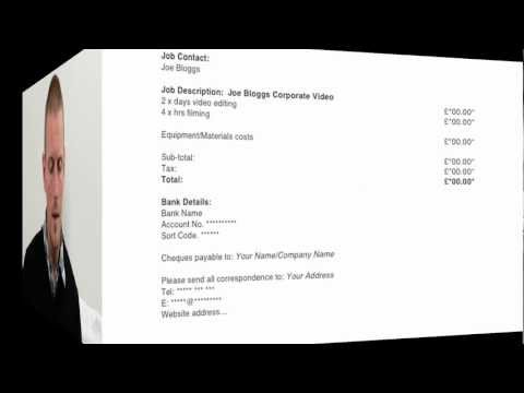 Freelance Video Editor Invoice Template | How To Create A Freelance Video Editor Invoice Template