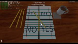 I saw a creepy face playing charlie charlie challenge on roblox OMG!!!