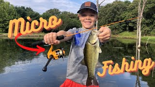 Micro Fishing Challenge at the Monster Bass Pond!