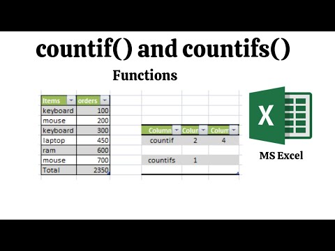 Countif And Countifs Functions Excel  | 2020