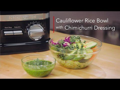 Cauliflower Bowl with Chimichurri Dressing The Blended Life   KitchenAid