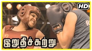 Irudhi Suttru Tamil Movie | Climax Scene | Ritika wins the match and gives credit to Madhavan