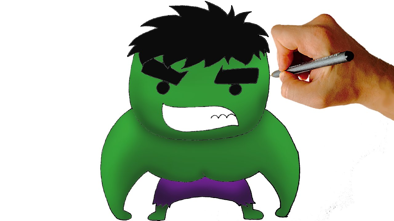 how to draw chibi hulk easy step by step video youtube