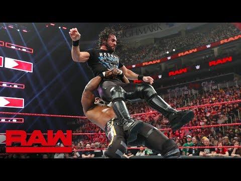 Shelton Benjamin attacks Seth Rollins: Raw, March 11, 2019