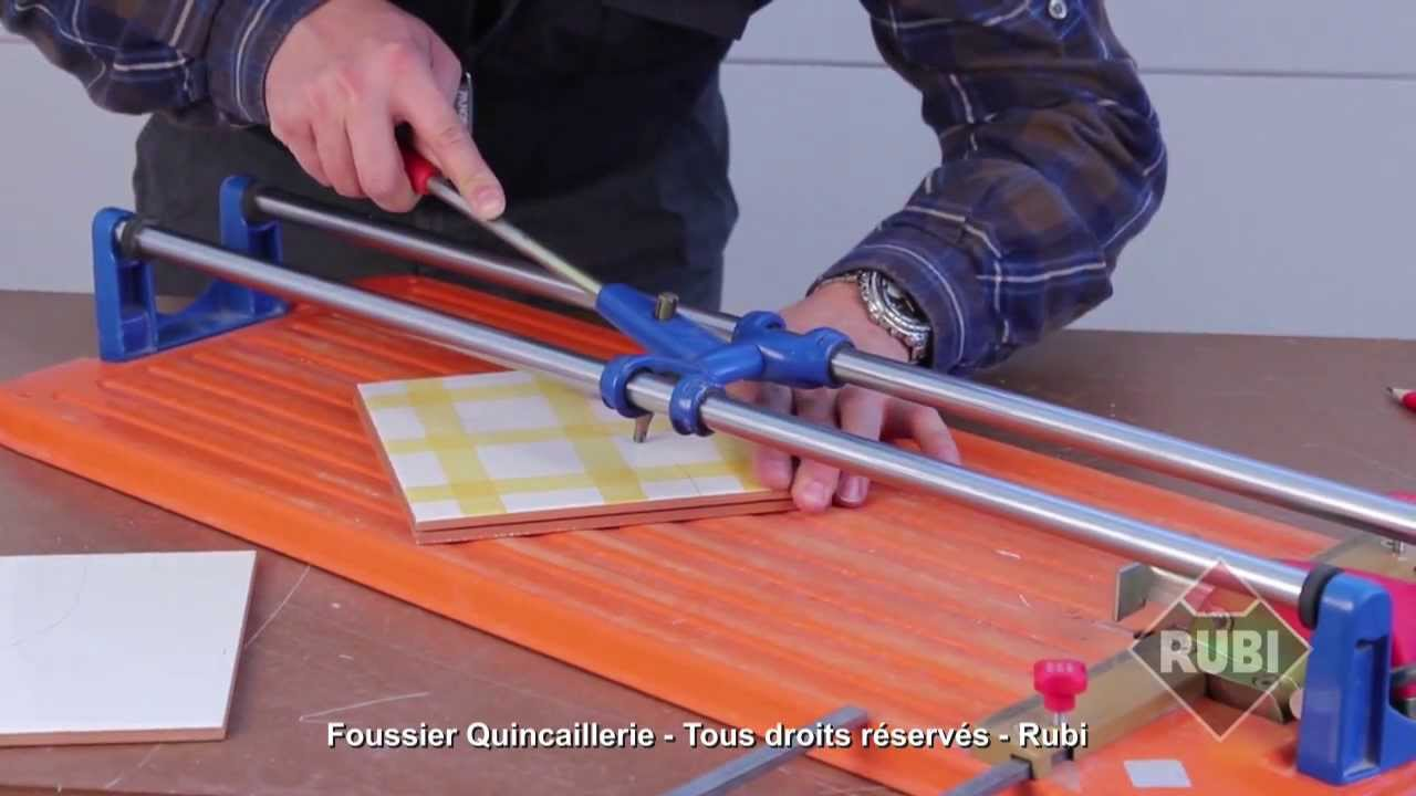 Rubi coupeuse de carrelage ts 40 youtube for Carrelage passion