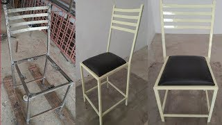 pipe chair, making iron pipe stools ||