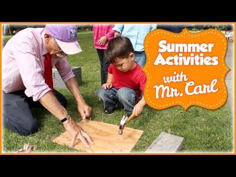 outdoor activities for preschoolers. Outdoor Activities For Toddlers And Preschoolers With Mr. Carl (Part 2) - YouTube