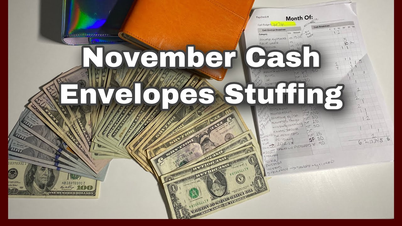 November Cash Envelopes Stuffing|Giveaway Winner+Giveaway|2/7|Jonae KyOshee