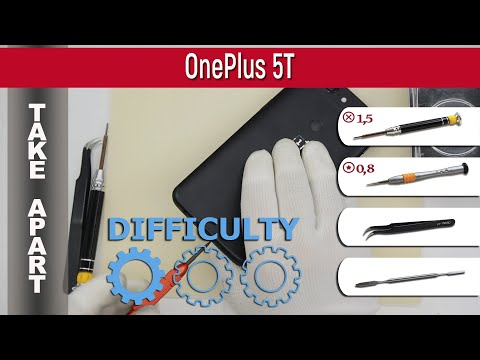 How To Disassemble 📱 OnePlus 5T Take Apart Tutorial