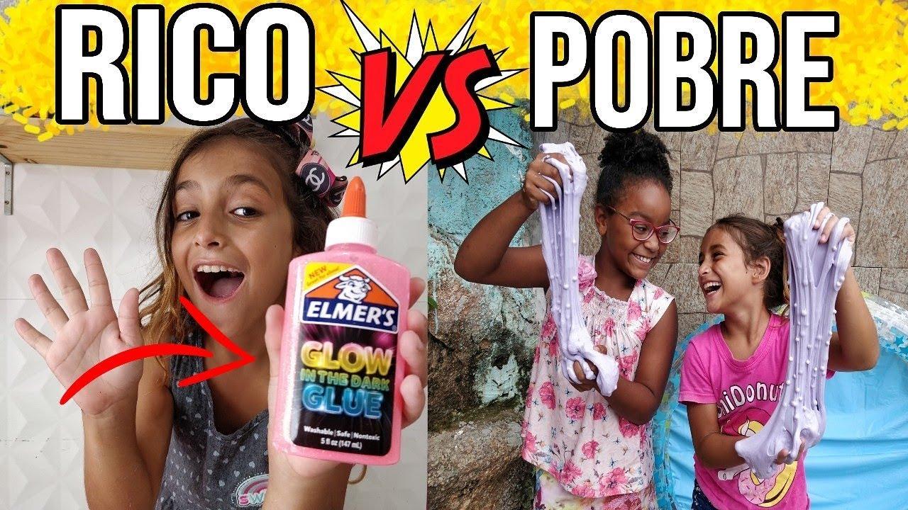 RICO VS POBRE FAZENDO AMOEBA / SLIME #1