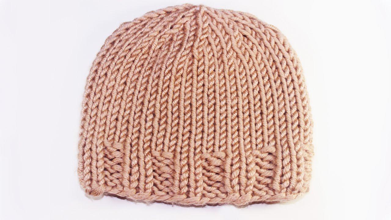 7125a75a9f62c  تريكو طاقية (قبعة ) خطوة خطوة للمبتدئين تناسب كل الاعمار --knitting hat -  YouTube